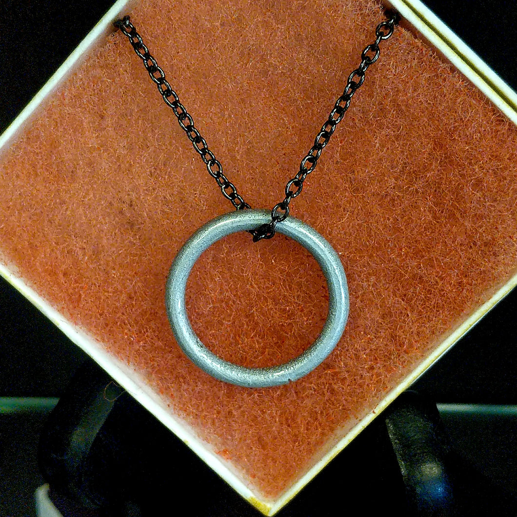 Silver & White Ring Necklace
