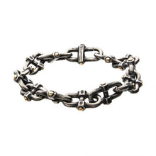 Load image into Gallery viewer, Stainless Steel Antique Distressed Mariner Chain Bracelet