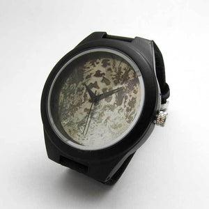 Ebony Watch w/ Corroded Metal Dial - TheExCB