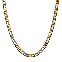 Load image into Gallery viewer, Stainless Steel & Gold IP 7mm Speckled Figaro Chain Necklace