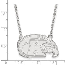 Load image into Gallery viewer, Sterling S. Rh-P LogoArt Kent State University Large Pendant With Necklace