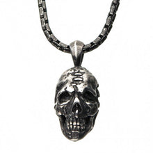 Load image into Gallery viewer, Stainless Steel Antique Silver Skull Head Pendant with Chain