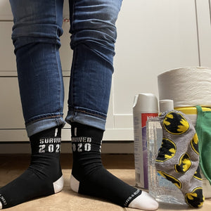 I Survived 2020 Fun Socks - BUY 2 GET 3RD PAIR FREE
