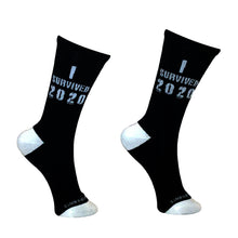 Load image into Gallery viewer, I Survived 2020 Fun Socks - BUY 2 GET 3RD PAIR FREE