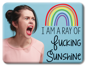 Ray of Fucking Sunshine Funny Magnet