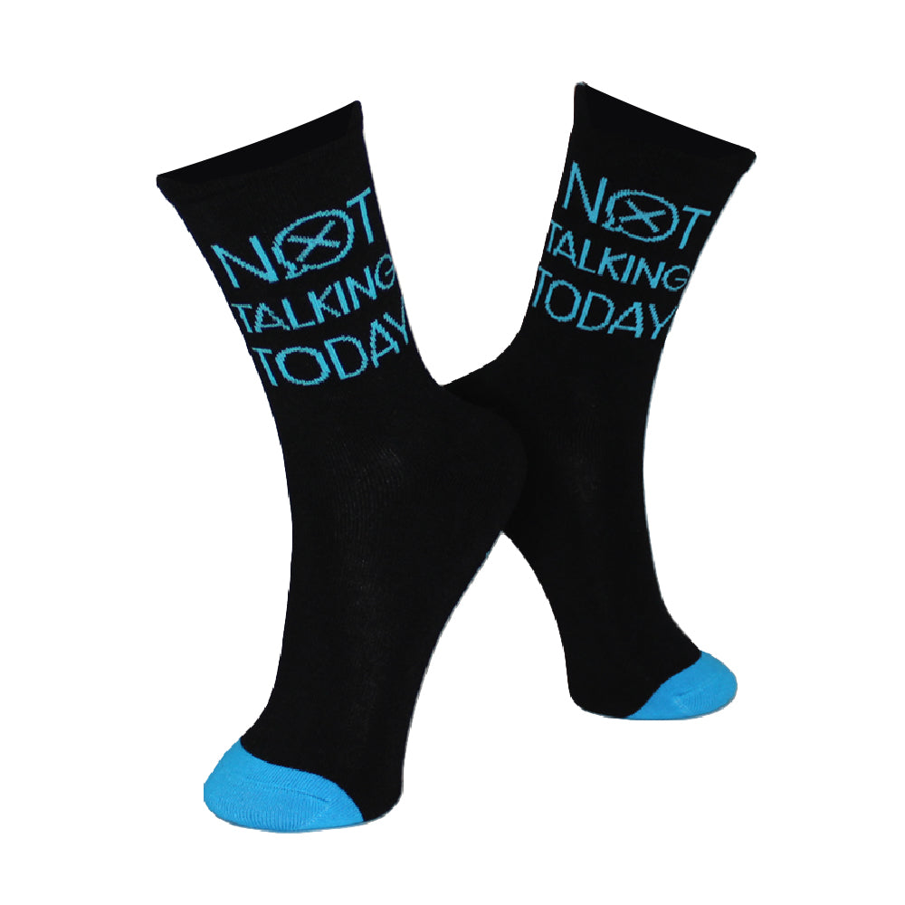 Not Talking Today Fun Socks
