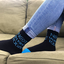 Load image into Gallery viewer, Women's Fun Socks. Crew Length. Fits Size 6-10. Bamboo Socks with fun sayings. Hidden Comments Socks, Gift ideas for friends, Gift ideas for Christmas, Gift idea for working women. Cool Socks