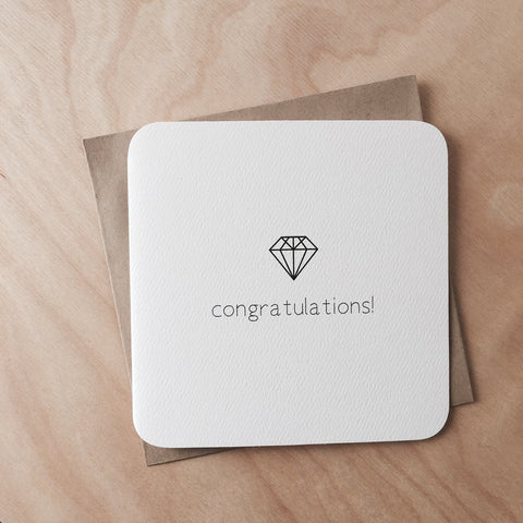 Diamond Congratulations Card
