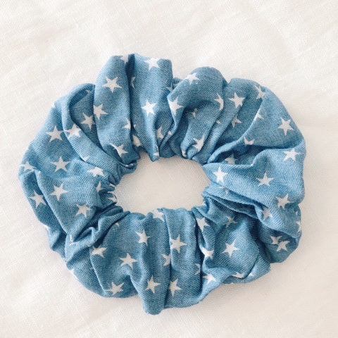 Stars Scrunchie - Light Denim
