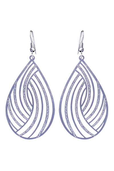 Messina Earring - Silver Swirl