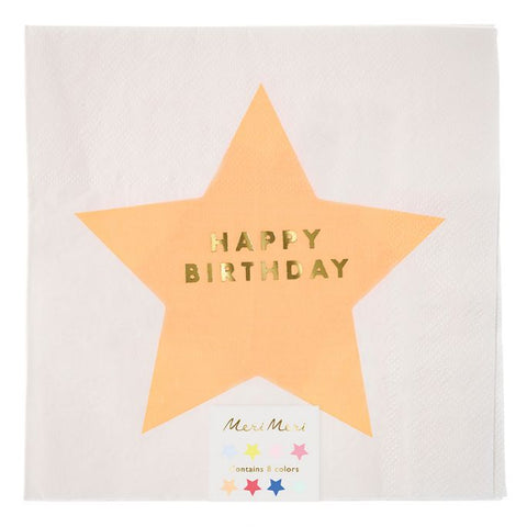 Star Happy Birthday Napkins
