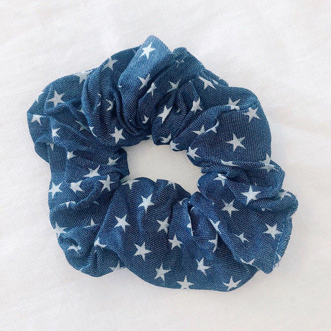 Stars Scrunchie - Dark Denim