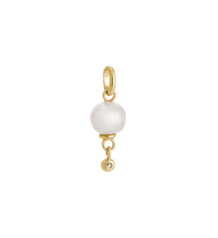 Kirstin Ash - Fresh Water Pearl Droplet Charm Gold