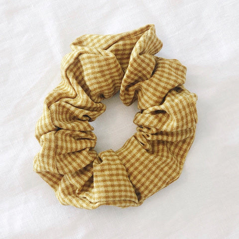 Check Scrunchie - Mustard
