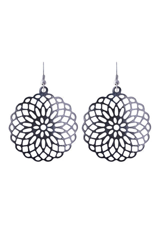 Messina Earring - Silver Filagree