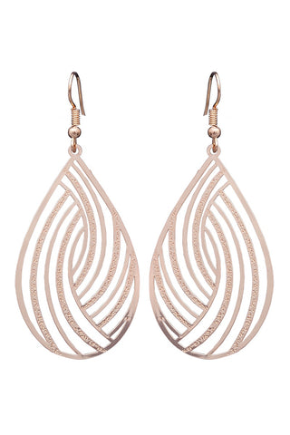 Messina Earring - Gold Swirl
