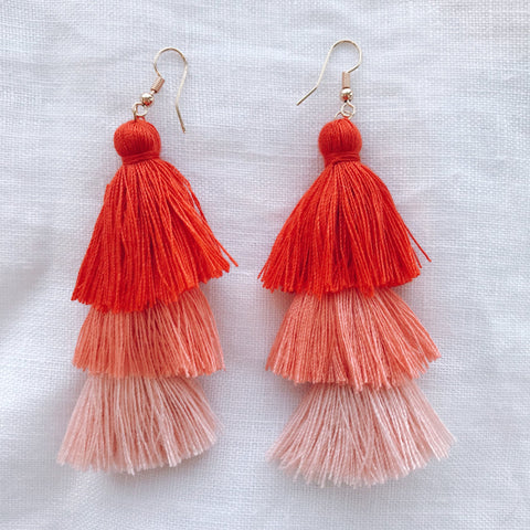 Grace Earring - Red Ombre