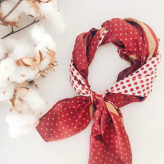 Red Spotty Hair Scarf