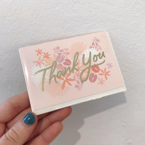 Mini Card - Thank You Floribunda
