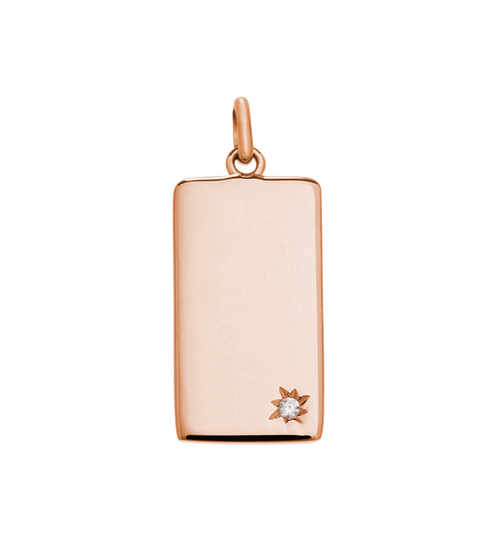 Kirstin Ash - Engravable Rectangle Tag Rose Gold