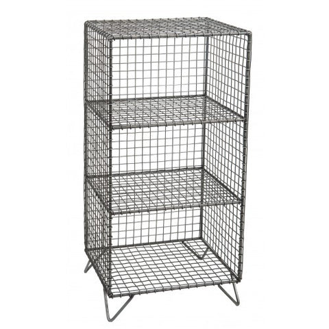 Wire Shelf 3 cube Zinc