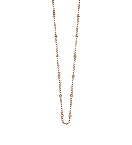"Kirstin Ash Bespoke - Ball Chain Rose Gold (18""-20"")"