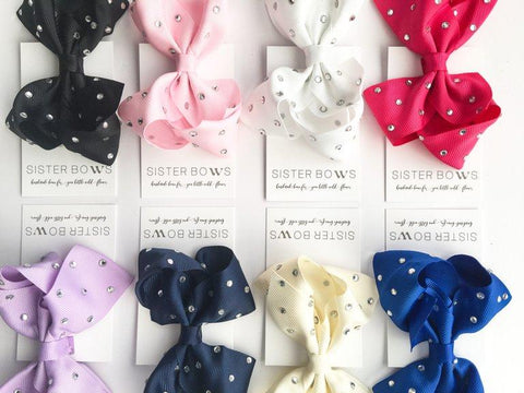 Crystal Sister Bow - Multiple Colours