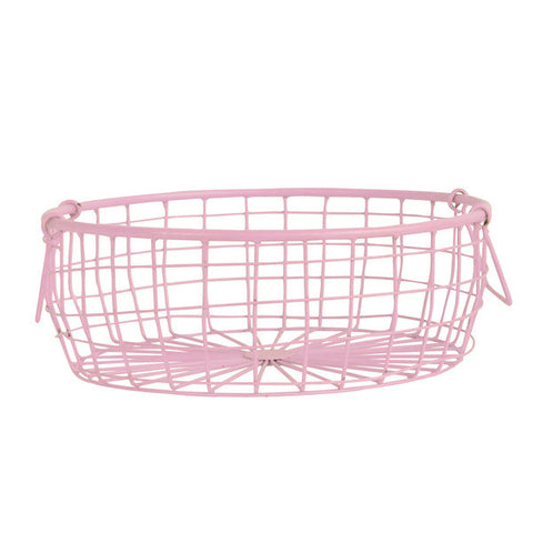 Low Basket in Powder Pink