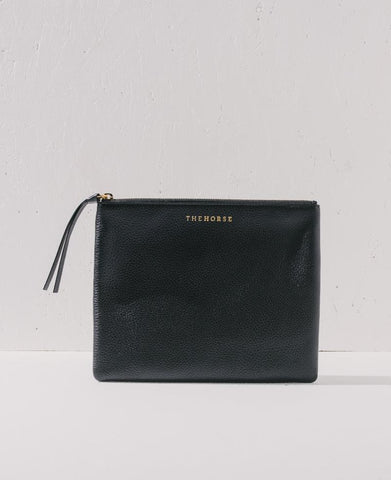 The Horse - Zip Clutch in Black