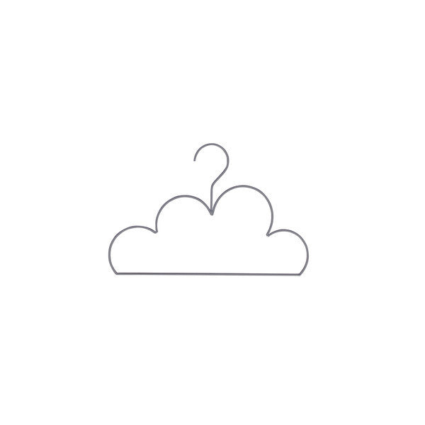 Cloud Coat Hanger - Small Grey