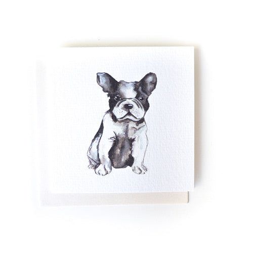 Mini Card Bulldog Puppy