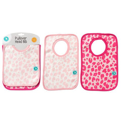 Pullover Head Bibs 2 pack – Leopard Pink