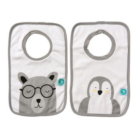 Pullover Head Bibs 2 pack – Penguin