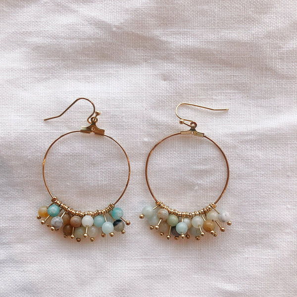 Pebbles Earring - Mint Mix