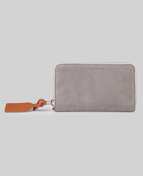 The Horse Block Wallet in Grey / Rose Gold