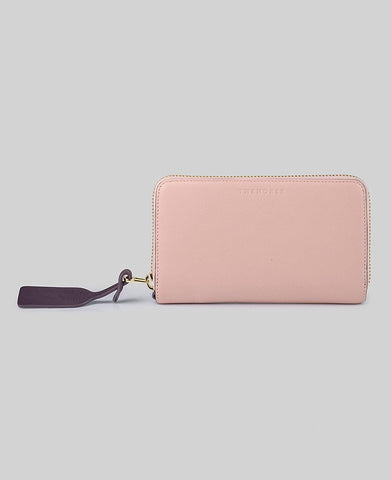 The Horse Block Wallet in Blush / Plum