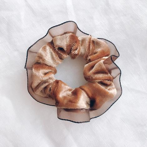 Velour Scrunchie - Bronze
