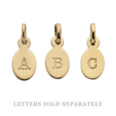Kirstin Ash - Oval Letters (A-Z) Gold