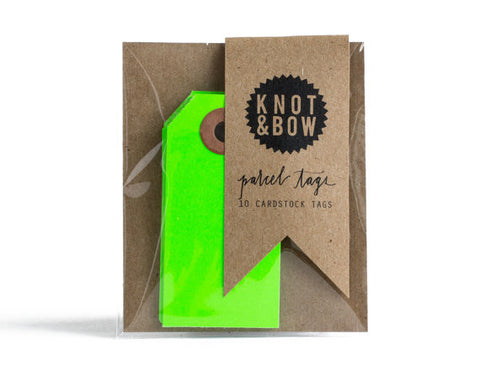 Gift Tags: Neon Green