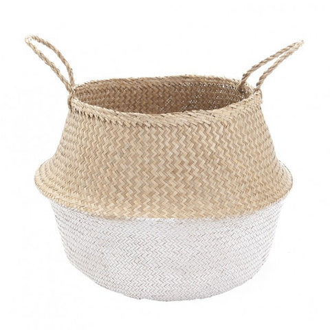 Olli Ella Large White Dipped Belly Basket