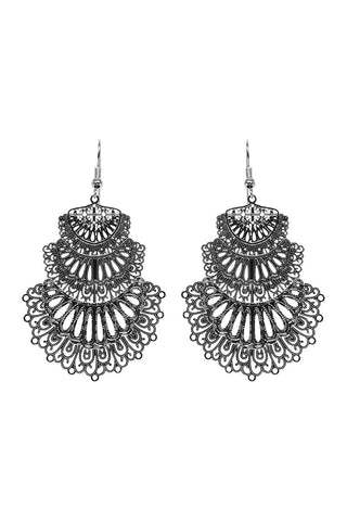Lucia Earring - Fan Silver