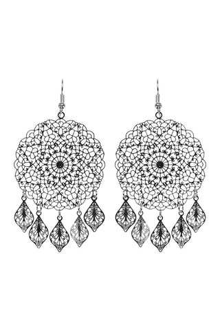 Lucia Earring - Round Silver