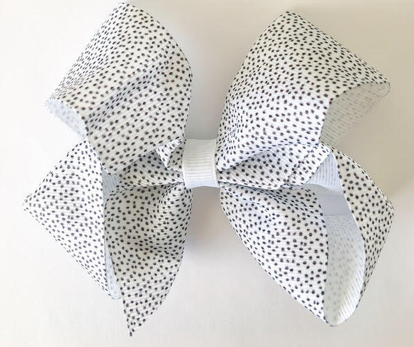Small Spotty Hair Bow