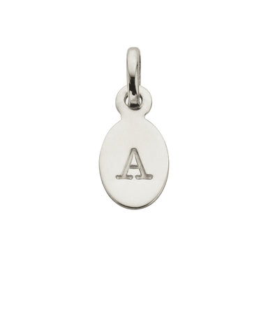 Kirstin Ash - Oval Letters (A-Z) Silver