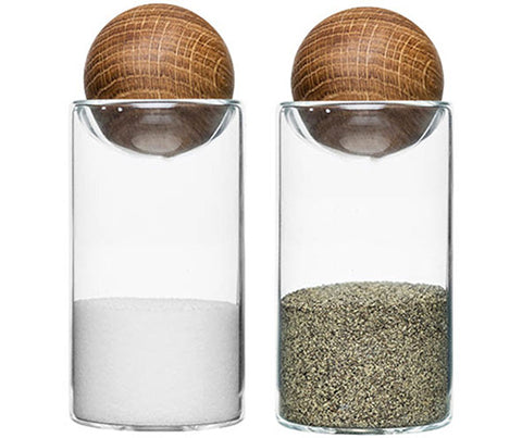 Oval Oak Salt & Pepper 2Set