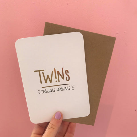 Twins Double Trouble Card