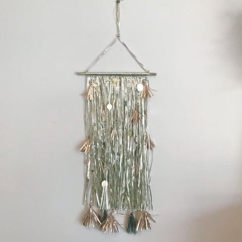 Sml Gold Sequin Wall Hanging