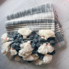 Stripe Tassel Throw