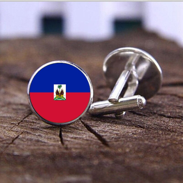 Haiti Flag Cufflinks