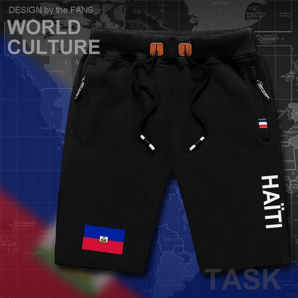 Haitian mens shorts beach country flag